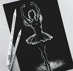 #ballerina #art #black and white #cool