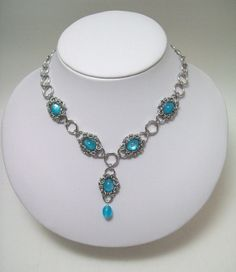 chainmaille necklace prom ladies necklace by Eternalelfcreations, $30.00