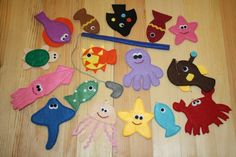 Magnetic Fishing Game, Felt Sea Animals with Fishing Pole, Educational Sensory Toy for Toddler and Baby, Gift for Kids, Set of 16   Children love the beautiful, vivid colors and these small-sized, soft toys which fit in their little hands so well.  The set includes 16 sea animals. Kids need to concentrate striving to catch and lift the sea creatures.  Produced in smoke-free and pet-free enviroment.  The various hues can be slightly different on your screen comparing to the colors of the real…