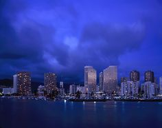 This photo from Hawaii, West is titled 'Night - Honolulu Skyline'. Chicago Tribune, Concrete Jungle, City Lights, The Places Youll Go, Dream Vacations, Travel Usa, Travel Photos, North America, New York Skyline