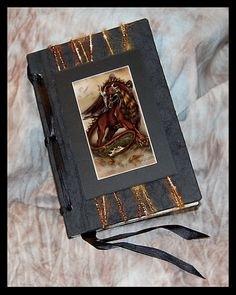 Autumn DRAGON Beautiful Handmade Journal by mysticmoonmedia, $20.00