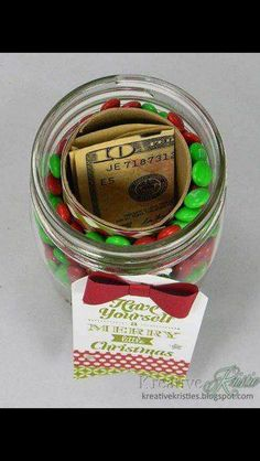 Matt's Christmas Gift...fill with candy and money. More