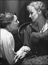 "Jan Maxwell as Mrs. Linde and Janet McTeer as Nora in ""A Doll's House""."