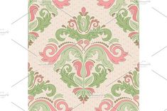 Oriental vector pattern with damask, arabesque and floral elements. Damask Patterns, Arabesque, Vector Pattern, Abstract Backgrounds, Oriental, Graphic Design, Floral, Flowers, Flower