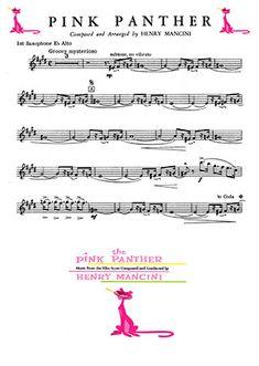 Розовая пантера ноты скачать