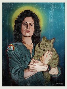Alien: Ripley and Jones by Jugo Gastrico