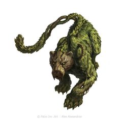 Maybe not this exact creature, but animals that are created of and one with their habitats. Some are harmless, some are not. Mythical Creatures Art, Forest Creatures, Mythological Creatures, Magical Creatures, Monster Concept Art, Fantasy Monster, Monster Art, Monster Hunter, Creature Concept Art