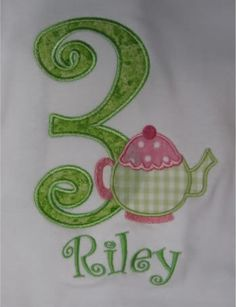 Tea Party Girls Birthday Shirt Boutique Custom Personalized
