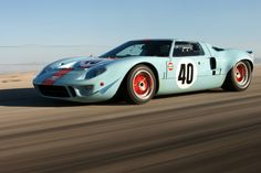 "The Ford 1968 not only ran & won races, but Steve McQueen chose it for his movie ""Le Mans"" making it even more iconic. Ford Gt40, Carroll Shelby, Steve Mcqueen, Ford Motor Company, Peugeot, Alpha Romeo, Ferrari, Lamborghini, Ford Classic Cars"