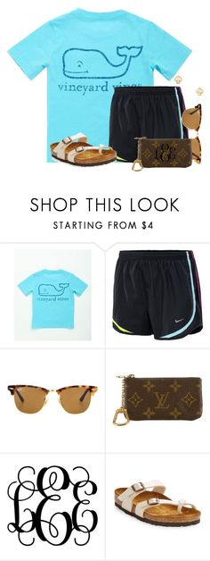"""Casual shopping day:)"" by flroasburn on Polyvore featuring Vineyard Vines, NIKE, Ray-Ban, Louis Vuitton, Birkenstock and Kate Spade"
