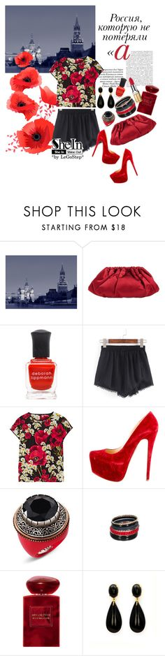 """""""Summer 2016 #44"""" by legostep ❤ liked on Polyvore featuring Paolo, Barneys New York, Deborah Lippmann, Dolce&Gabbana, Christian Louboutin, MNG by Mango, Pimkie, Giorgio Armani and Elizabeth Arden"""