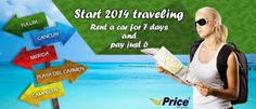 Travel special. Rent a car in Cancun and Riviera Maya