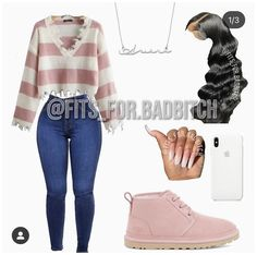 Cute Outfits With Jeans, Baddie Outfits Casual, Cute Lazy Outfits, Swag Outfits For Girls, Teen Girl Outfits, Cute Swag Outfits, Teen Fashion Outfits, Retro Outfits, Girly Outfits