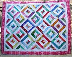 Summer in the Park quilt with link to the tutorial on YouTube