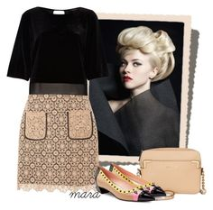 """""""Nude Black"""" by marastyle ❤ liked on Polyvore featuring Dorothy Perkins, River Island, Calvin Klein and Fendi"""