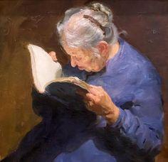Old woman reading, Boris Mayorov, 1931-1991.