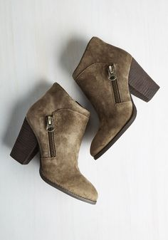 Guess Strut! Bootie. Youre so enthusiastic about your new taupe ankle boots that youll boast about em to everyone you encounter! #tan #modcloth
