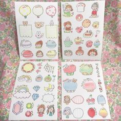 Vセット♡手描き フレークシール | ハンドメイドマーケット minne Page Borders Design, Border Design, Doodle Art Drawing, Study Notes, Colorful Makeup, Easy Drawings, Cute Art, Birthday Cards, Diy And Crafts