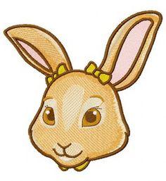 Little cute bunny 3 machine embroidery design. Machine embroidery design. www.embroideres.com