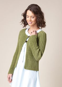 Swallowtail Scoop neck Cardigan Free Knitting Pattern
