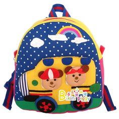 Childrens backpacks and bags. Baby School Bags, School Bags For Kids, Kids Bags, Baby Bags, Little Backpacks, Boys Backpacks, Xmas Ornaments, Little Bag, Baby Sewing