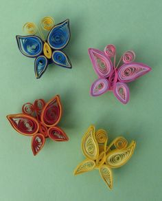 I originally designed these for use in a paper quilling kit at work (basically a craft-program-in-a-box that we can use with our teen patrons). It was necessary that they be easy and semi-quick to . Quilled Simple Butterfly by ~HViciPrice on deviantART Ri Quilling Images, Paper Quilling Cards, Paper Quilling Tutorial, Paper Quilling Jewelry, Paper Quilling Patterns, Quilled Paper Art, Diy Paper, Quilling Ideas, Quilling Butterfly