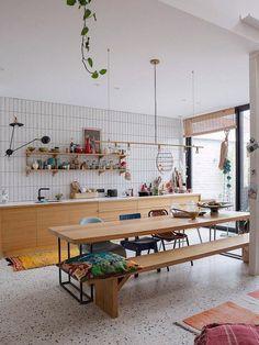 Kitchen Dinning, New Kitchen, Kitchen Decor, Interior Design Kitchen, Cool Kitchens, Interior Inspiration, Interior Architecture, Kitchen Remodel, Sweet Home