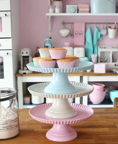 Is there any baking element prettier than a collection of cake stands?