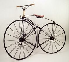 Phantom Velocipede, ca. 1869  Reynolds & Mays, London  England    The first English velocipede with a suspension wheel and solid rubber tires.