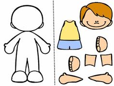 Today I leave some activities that I have adapted to perform a cooperative game . - Body Parts Body Parts Preschool Activities, Preschool Body Theme, Preschool Activity Books, Senses Activities, Preschool Writing, Preschool Worksheets, Preschool Learning, Toddler Activities, Learning Activities