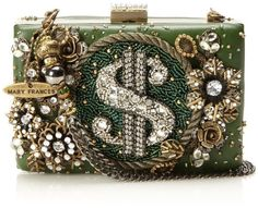 celebrities often choose one-of-a-kind accessories and what we have recently spotted is a true trend-setter - Mary Frances designer handbags. Unique Handbags, Beautiful Handbags, Vintage Handbags, Purses And Handbags, Mary Frances Purses, Mary Frances Handbags, Beaded Purses, Beaded Bags, Novelty Bags