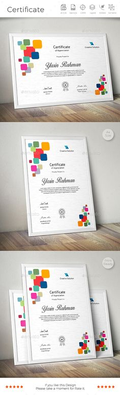 Certificate (08) Certificate, Certificate design and Fonts - creative certificate designs