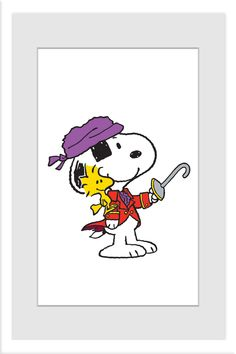 Snoopy Pirate With Hook