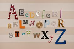 Life With Fingerprints: DIY Alphabet Wall...