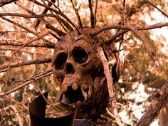 Another Skull Scarecrow Voodoo Halloween, Halloween 2015, Halloween Themes, Halloween Decorations, Halloween Party, Voodoo Costume, Swamp Theme, Yard Haunt, Animal Bones