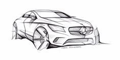 Mercedes-Benz CLA-Class Design Sketch - Car Body Design