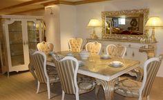 Kullanıcıların isteğine göre sınırsız renk ve ölçü seçeneklerinin olduğu takım, yaşam mekanlarına elit bir tarz kazandırıyor. http://www.asortie.com/yemek-odasi-88-Bergama-Klasik-Yemek-Odasi
