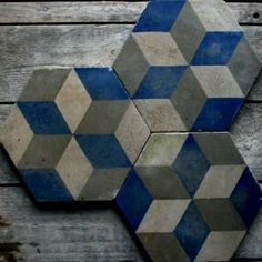 Encaustic Civis- Reclaimed Tile Co, England. Blue Pigment, Encaustic Tile, Hexagon Tiles, Vintage Tile, Wall Tiles, Surface Design, Home Remodeling, Wood Projects, Floors