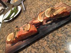 Lemon Dill Salmon over Cedar Planks
