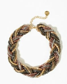 Braided Rope Statement Necklace | Necklaces | Charming Charlie | charming charlie