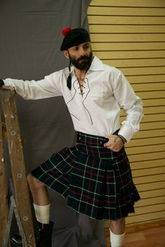 Embrace your Scottish heritage with a contemporary twist on a classic kilt. Contemporary Kilts, See more ideas about Men in kilts, his kilt features your choice of a classic tartan pattern that is cut into a more fashionable. Scottish Costume, Kilts For Sale, Modern Kilts, Leather Kilt, Utility Kilt, Lycra Men, Man Skirt, Tartan Kilt, Men In Kilts