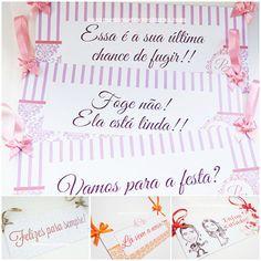 Placas de Daminha e Pajem - Casamentos e Travessuras