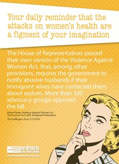 House Votes on the Violence Against Women Act | Women Are Watching