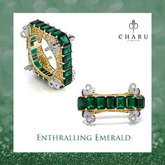 A perfect blend of gold, diamonds, and emeralds designed for you to shine out strong within the crowd. Providing you with a tribal yet sophisticated design, the kada inspires the originality of an individual and signifies the strong women through the rich and elegant portrayal of the elephants. #‎ColourYourSenses‬ ‪#‎CharmingCharu‬ ‪#‎jewellery‬ ‪#‎bangles‬ ‪#‎finejewellery‬ ‪#‎luxurylife‬ ‪#‎handgoals‬ ‪#‎designerjewelry‬ ‪#‎jewelryjunkie‬ ‪#‎jewelryaddict‬ ‪#‎diamondsareforever‬…