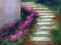 Memory+Lane+Arboretum+Path,+painting+by+artist+Nancy+Medina