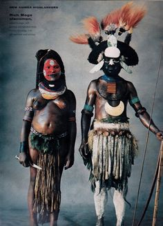 US Vogue December 1970 The Spectacular Highlanders of New Guinea, South Pacific Ph: Irving Penn