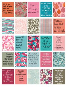 Quotes to Live By stickers for Life Planner Printable/Digital for your erin condren life planner weekly boxes. Printable Planner Stickers, Journal Stickers, Printable Quotes, Journal Cards, Printables, Free Printable, Filofax, Planner Pages, Weekly Planner