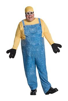 Bob is hands down the cutest minion. Go on the hunt for your new evil villain boss while you wear this Plus Size Minion Bob Costume. Plus Size Adult Halloween Costumes, Plus Size Costume, Funny Halloween Costumes, Adult Costumes, Halloween Minions, Men's Costumes, Halloween Party, Halloween Clothes, Halloween Ideas