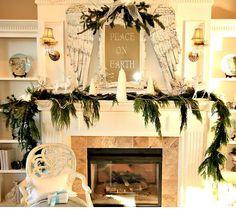 Gorgeous Holiday Mantel