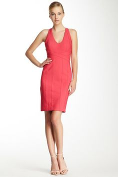 seam detailing  Sleeveless V-Neck Banded Travel Dress by Laundry on @HauteLook
